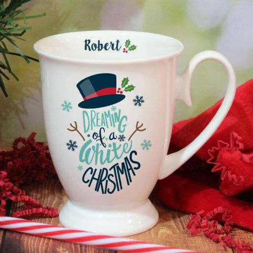 Personalised White Christmas Marquee Mug
